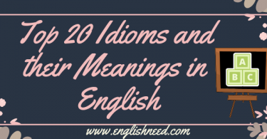 Idioms and Their Meanings